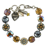 Mariana Jewelry Moon Drops Bracelet, Silver Plated with Swarovski Crystal, Nature Collection MAR-B-4501_1 216-3 SP