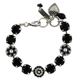 Mariana Jewelry Checkmate Bracelet, Silver Plated with Swarovski Crystal, Nature Collection MAR-B-4501_1 280-1 SP