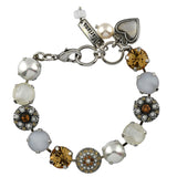 Mariana Jewelry Champagne and Caviar Bracelet, Silver Plated with Swarovski Crystal, Nature Collection MAR-B-4501_1 3911 SP