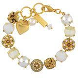 Mariana Jewelry Champagne and Caviar Bracelet, Gold Plated with Swarovski Crystal, Nature Collection MAR-B-4501_1 3911 YG