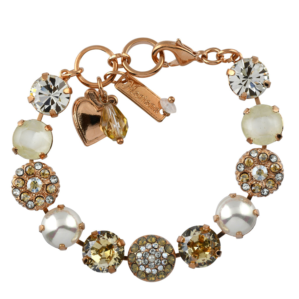 Mariana Jewelry Seashell Bracelet, Rose Gold Plated with Swarovski Crystal, Nature Collection MAR-B-4501_1 M39361 RG