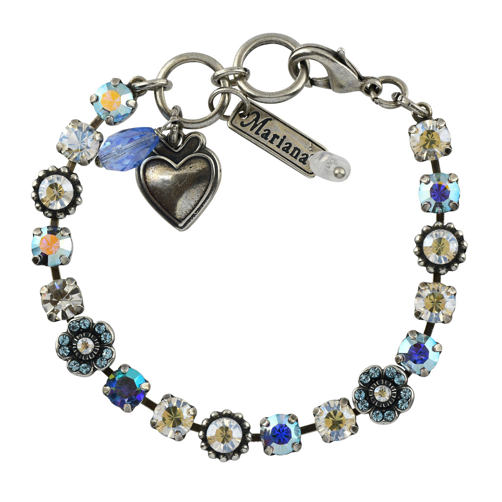 Mariana Jewelry Italian Ice Bracelet, Silver Plated with Swarovski Crystal, Nature Collection MAR-B-4504 141 SP