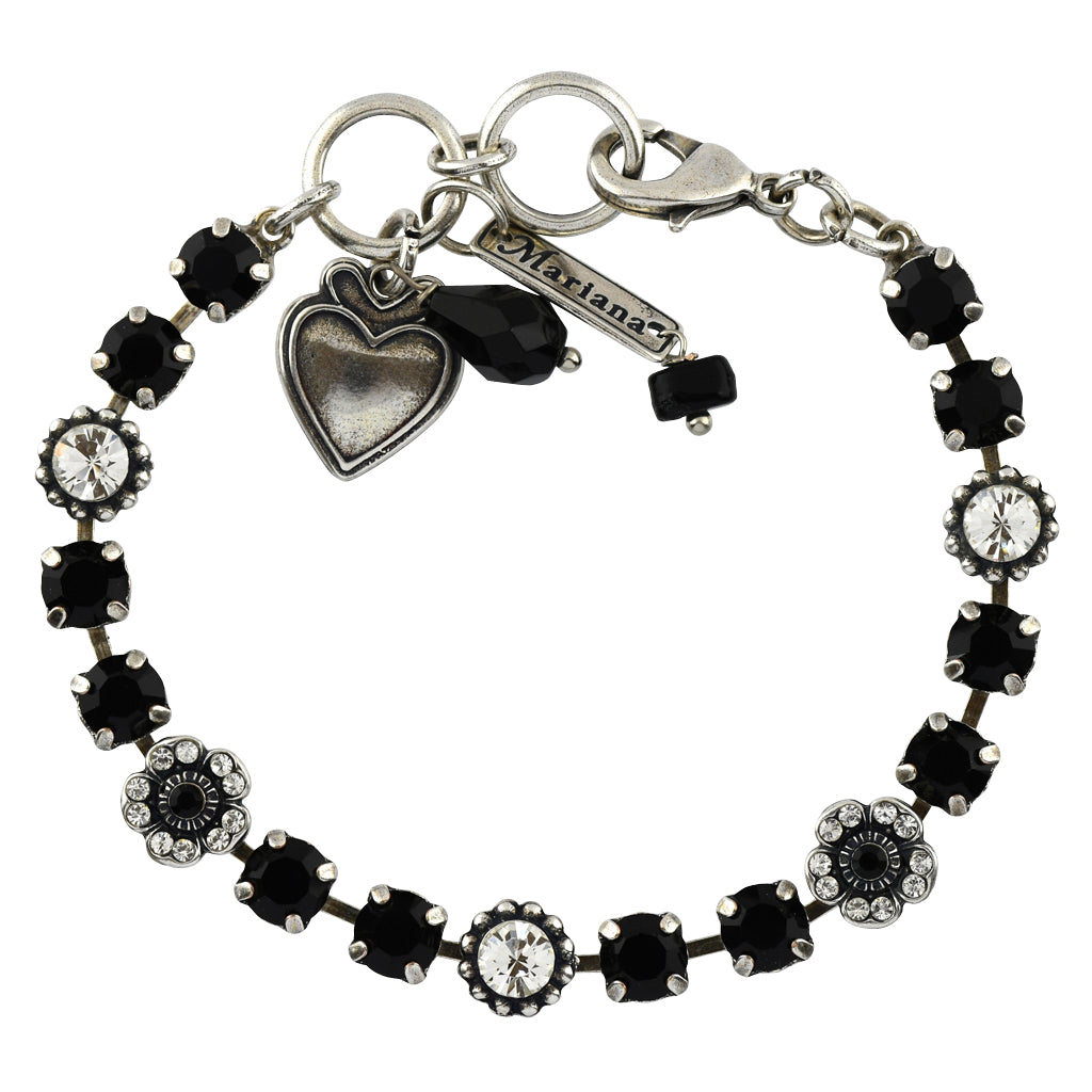 Mariana Jewelry Checkmate Bracelet, Silver Plated with Swarovski Crystal, Nature Collection MAR-B-4504 280-1 SP