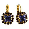 Mariana Jewelry Peacock Earrings, Gold Plated with Swarovski Crystal, Nature Collection MAR-E-1002_3 2139 YG6