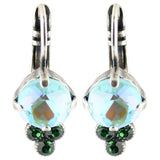 Mariana Ivy Silver Plated Crystal Round Cluster Drop Earrings