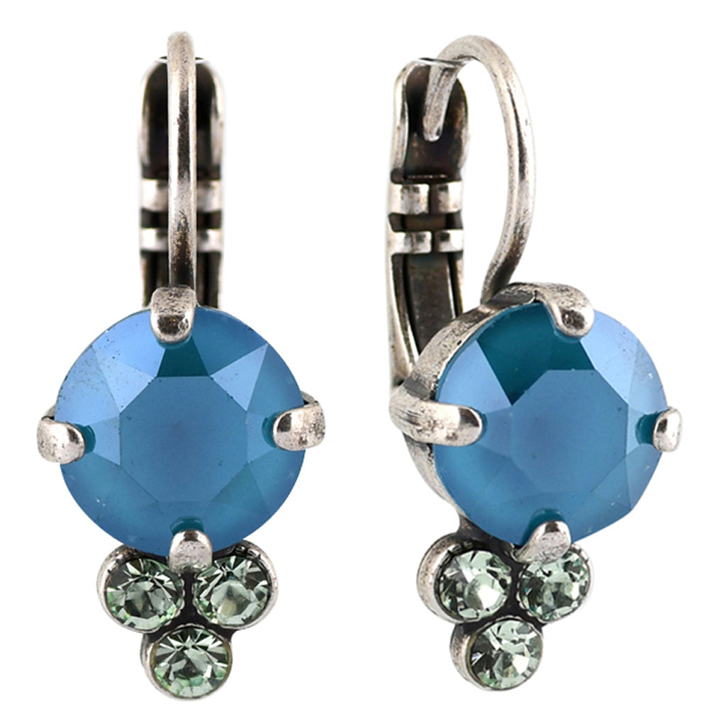 Mariana Jewelry Spring Flowers Earrings, Silver Plated with Swarovski Crystal, Nature Collection MAR-E-1010 2141 SP6