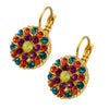 Mariana Jewelry Masai Guardian Angel Flower Earrings, Gold Plated 1029 1077