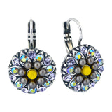 Mariana Macaroon Guardian Angel Flower Earrings, Silver Plated 1029 122