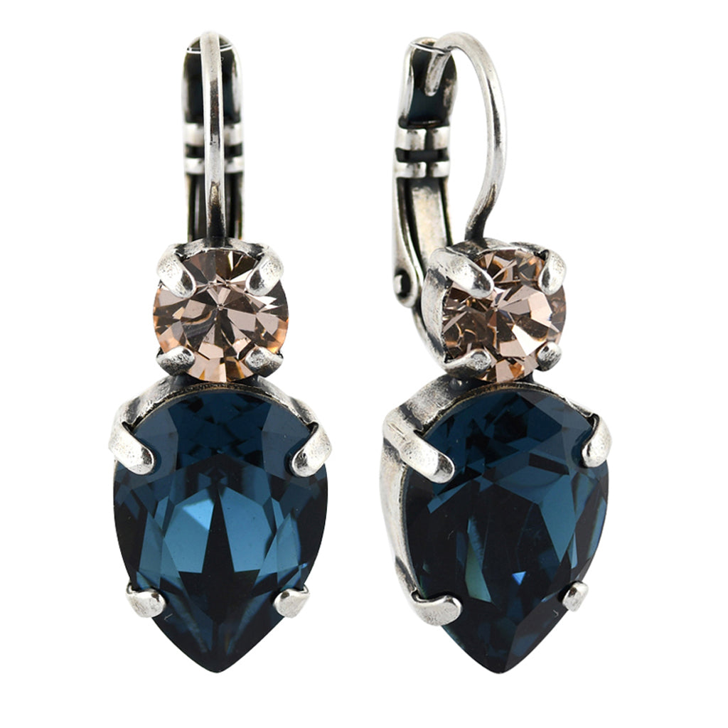 Mariana Jewelry Ocean Earrings, Silver Plated with Swarovski Crystal, Nature Collection MAR-E-1030_6 2142 SP6