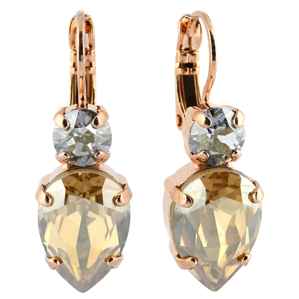 Mariana Jewelry Seashell Earrings, Rose Gold Plated with Swarovski Crystal, Nature Collection MAR-E-1030_6 39361 RG6