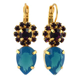 Mariana Jewelry Peacock Earrings, Gold Plated with Swarovski Crystal, Nature Collection MAR-E-1032_14 2139 YG6