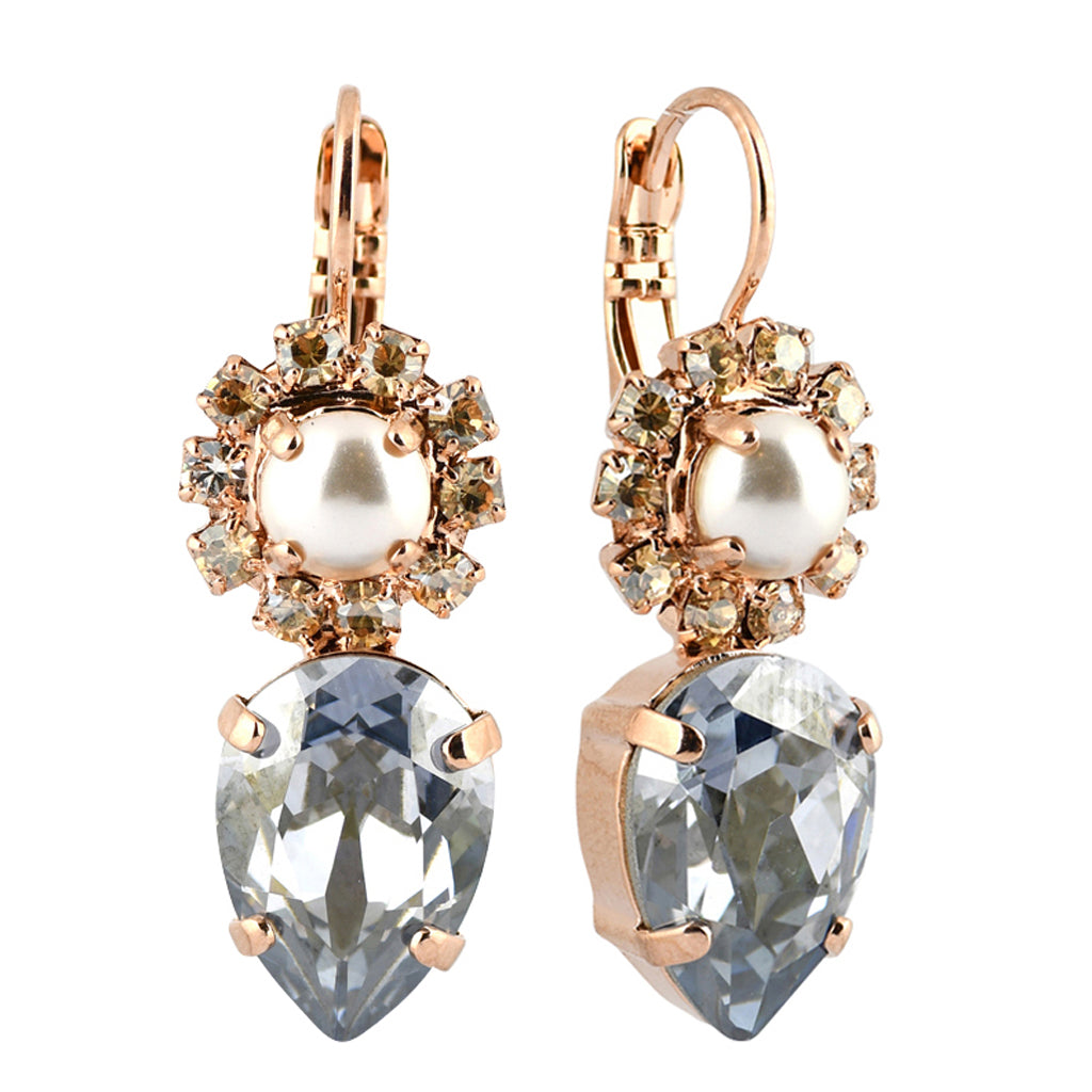 Mariana Jewelry Seashell Earrings, Rose Gold Plated with Swarovski Crystal, Nature Collection MAR-E-1032_14 39361 RG6