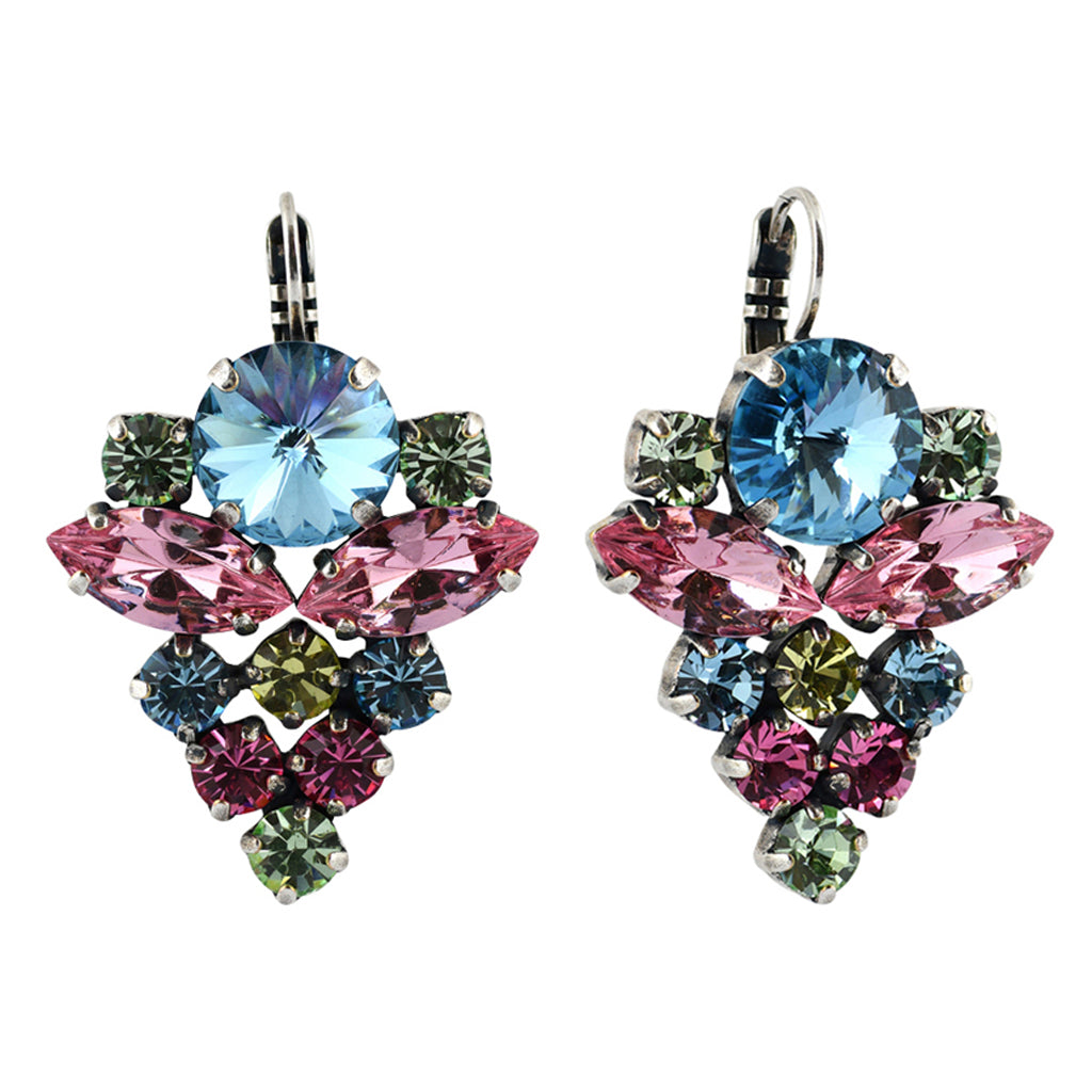 Mariana Jewelry Spring Flowers Earrings, Silver Plated with Swarovski Crystal, Nature Collection MAR-E-1037R_1 2141 SP6