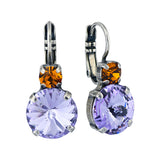 Mariana Jewelry Macaroon Round Drop Earrings, Silver Plated with Crystal 1037 122