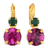 Mariana Jewelry Happy Days Earrings, Gold Plated with Swarovski Crystal, Nature Collection MAR-E-1037 1007 YG6