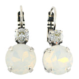 Mariana Jewelry Silk Earrings, Silver Plated with Swarovski Crystal, Nature Collection MAR-E-1037 1049 SP6
