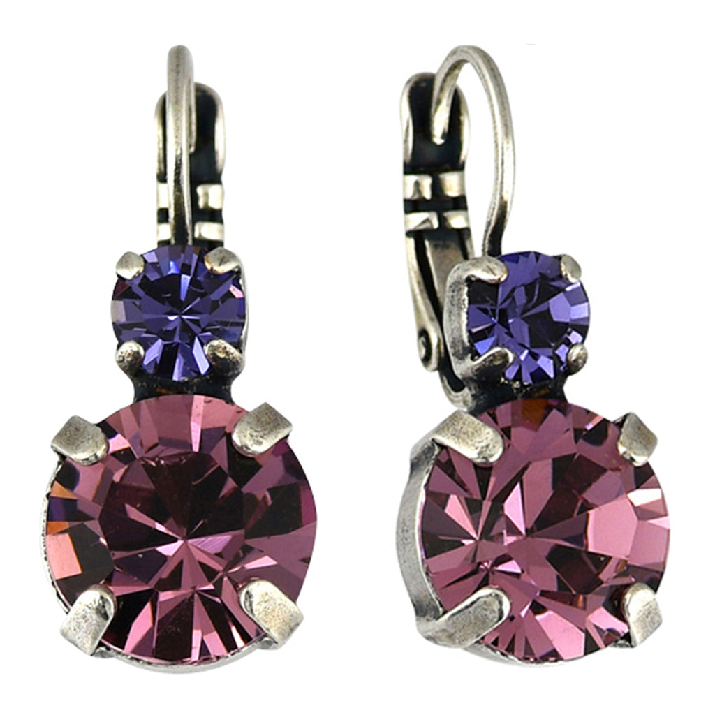 Mariana Jewelry Purple Rain Earrings, Silver Plated with Swarovski Crystal, Nature Collection MAR-E-1037 1062 SP6