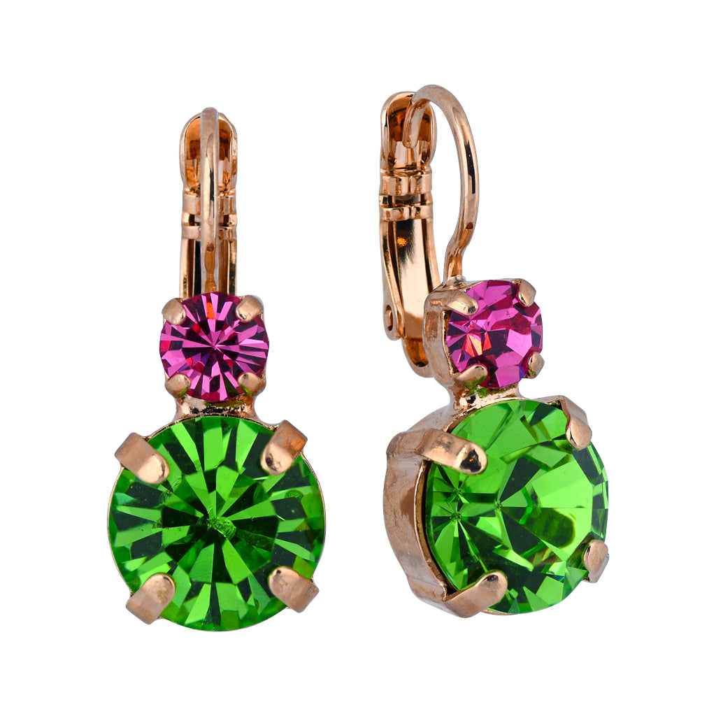 "Mariana Jewelry ""Tutti Frutti"" Rose Gold Plated Round Drop Earrings 1037 142"