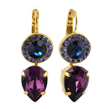 Mariana Jewelry Peacock Earrings, Gold Plated with Swarovski Crystal, Nature Collection MAR-E-1040 2139 YG6