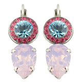 Mariana Spring Flowers Silver Plated Crystal Drop Earrings