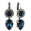 Mariana Jewelry Ocean Earrings, Silver Plated with Swarovski Crystal, Nature Collection MAR-E-1040 2142 SP6
