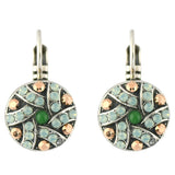 Mariana Jewelry Evergreen Silver Plated Crystal Petite Shield Drop Earrings