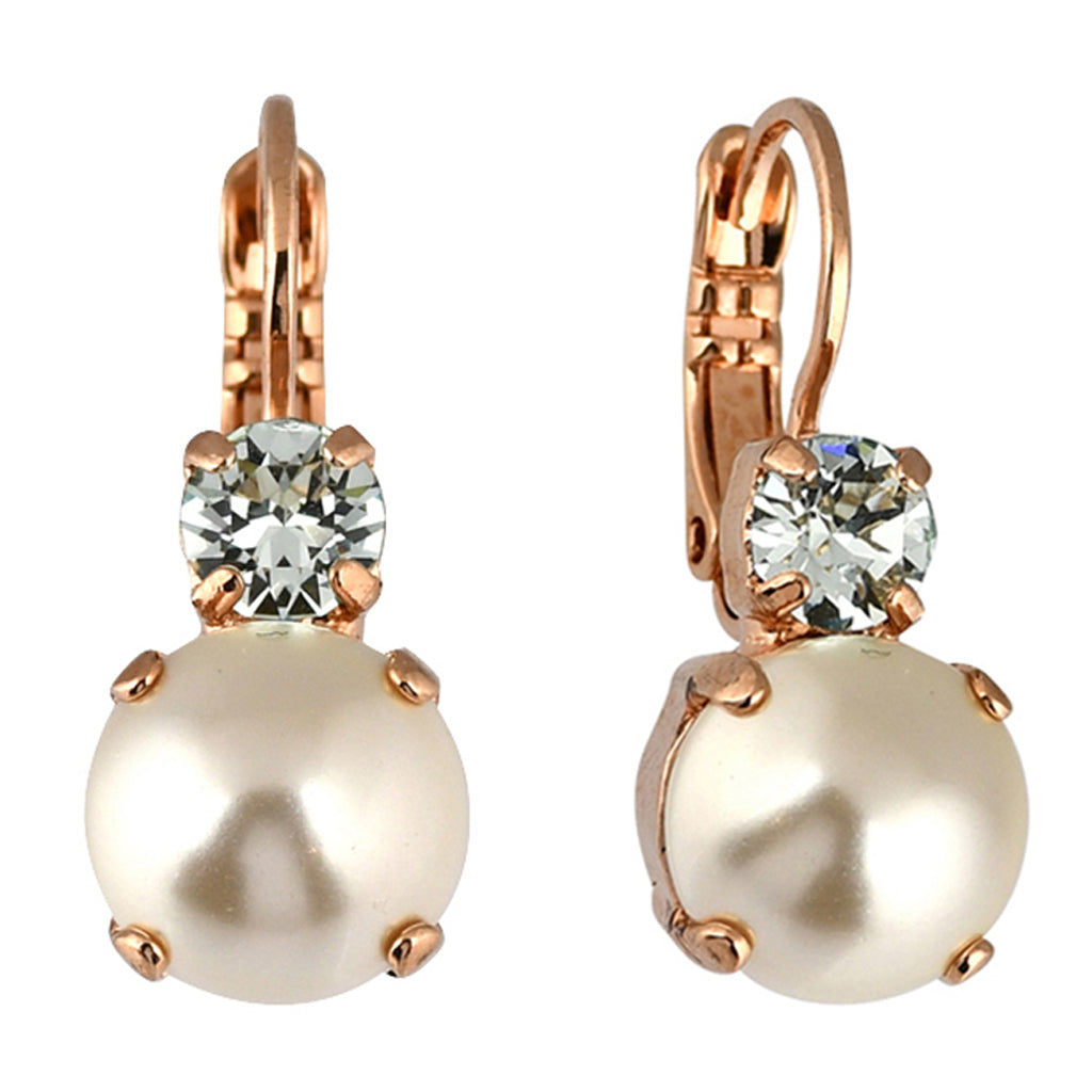 Mariana Jewelry Seashell Earrings, Rose Gold Plated with Swarovski Crystal, Nature Collection MAR-E-1062 39361 RG6