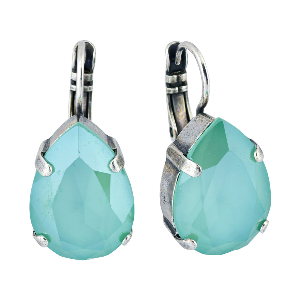 Mariana Jewelry Cannoli Silver Plated Teardrop Earrings 1098_5 397