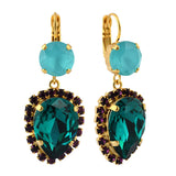 Mariana Jewelry Peacock Earrings, Gold Plated with Swarovski Crystal, Nature Collection MAR-E-1098_9 2139 YG6