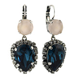 Mariana Jewelry Ocean Earrings, Silver Plated with Swarovski Crystal, Nature Collection MAR-E-1098_9 2142 SP6