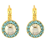 Mariana Jewelry Tinsel Gold Plated Crystal Petite Circle Drop Earrings