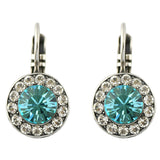 Mariana Jewelry Frost Silver Plated Petite Circle Crystal Drop Earrings