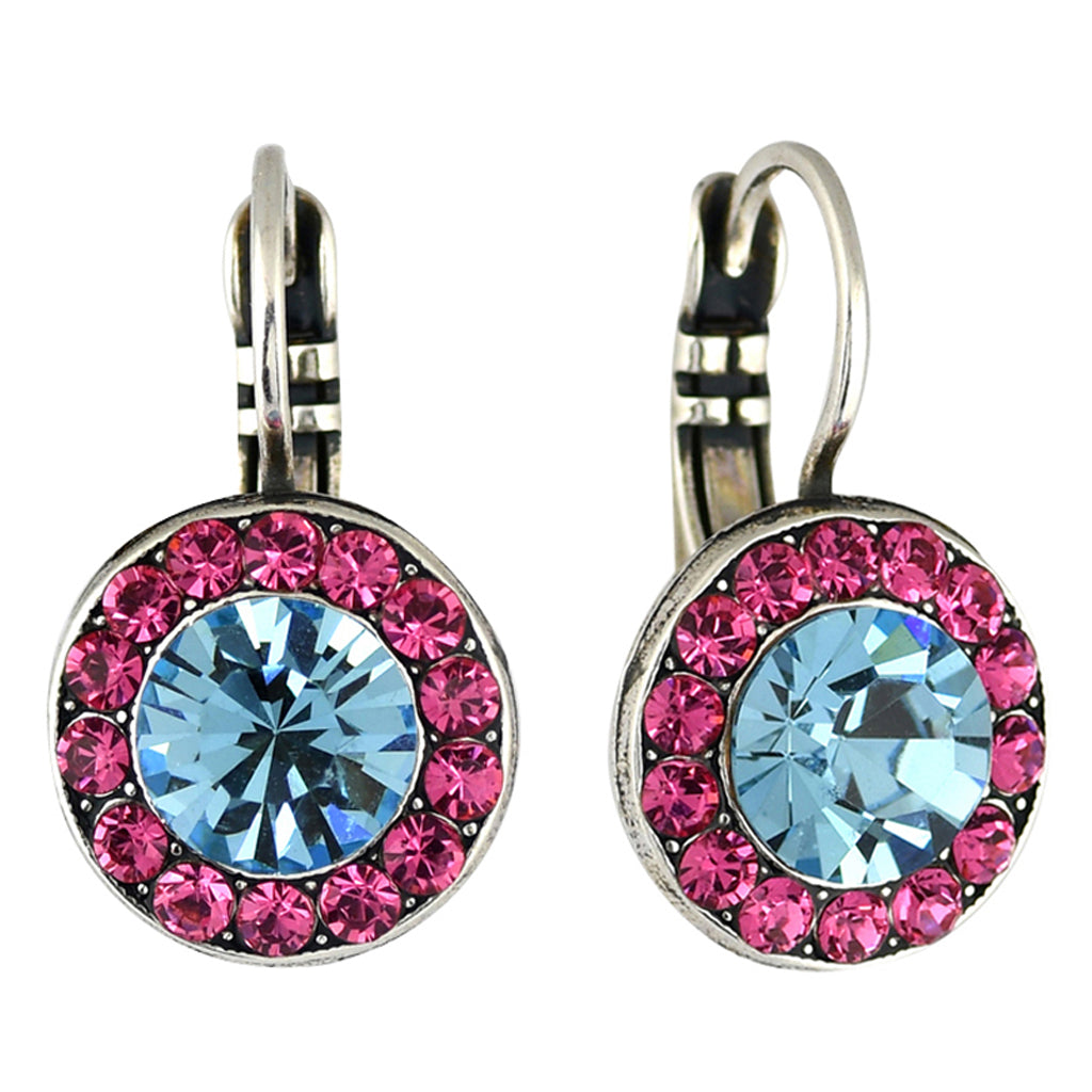 Mariana Jewelry Spring Flowers Earrings, Silver Plated with Swarovski Crystal, Nature Collection MAR-E-1129 2141 SP6