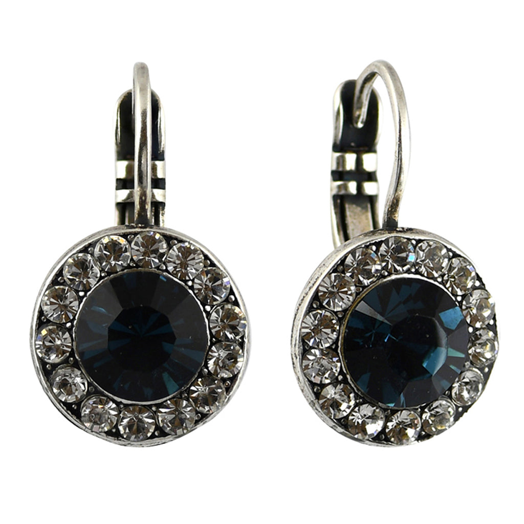 Mariana Jewelry Ocean Earrings, Silver Plated with Swarovski Crystal, Nature Collection MAR-E-1129 2142 SP6
