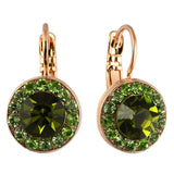 Mariana Jewelry Fern Earrings, Rose Gold Plated with Swarovski Crystal, Nature Collection MAR-E-1129 2143 RG6