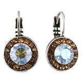 Mariana Jewelry Champagne and Caviar Earrings, Silver Plated with Swarovski Crystal, Nature Collection MAR-E-1129 3911 SP6