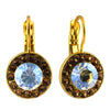 Mariana Jewelry Champagne and Caviar Earrings, Gold Plated with Swarovski Crystal, Nature Collection MAR-E-1129 3911 YG6