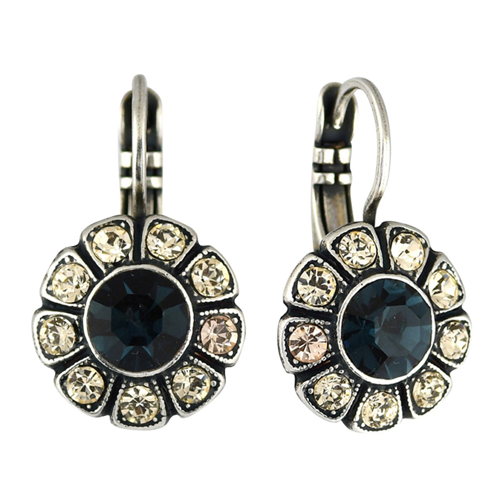 Mariana Jewelry Ocean Earrings, Silver Plated with Swarovski Crystal, Nature Collection MAR-E-1131 2142 SP6