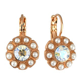 Mariana Jewelry Seashell Earrings, Rose Gold Plated with Swarovski Crystal, Nature Collection MAR-E-1131 39361 RG6
