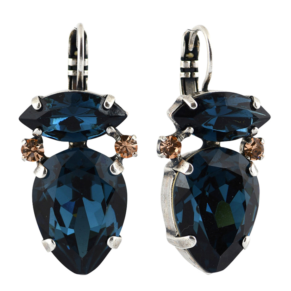 Mariana Jewelry Ocean Earrings, Silver Plated with Swarovski Crystal, Nature Collection MAR-E-1131_3 2142 SP6