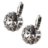 Mariana Jewelry Silver Plated Large Round Swarovski Crystal Drop Earrings