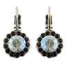 Mariana Black Orchid Silver Plated Round Flower Drop Earrings 1133