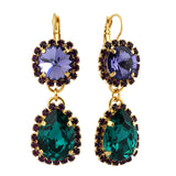 Mariana Jewelry Peacock Earrings, Silver Plated with Swarovski Crystal, Nature Collection MAR-E-1137_2 2139 YG6
