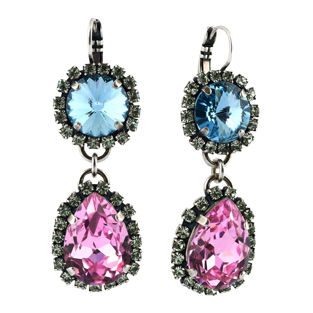 Mariana Jewelry Spring Flowers Earrings, Silver Plated with Swarovski Crystal, Nature Collection MAR-E-1137_2 2141 SP6