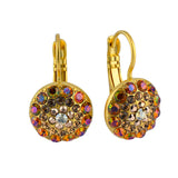 Mariana Jewelry Caramel Gold Plated Circle Drop Earrings 1141 137