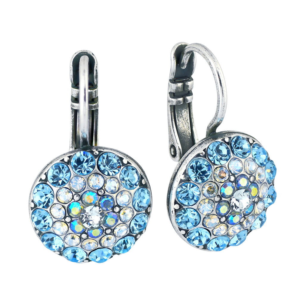 "Mariana Jewelry ""Italian Ice"" Circle Drop Earrings, Silver Plated with Crystal 1141 141"