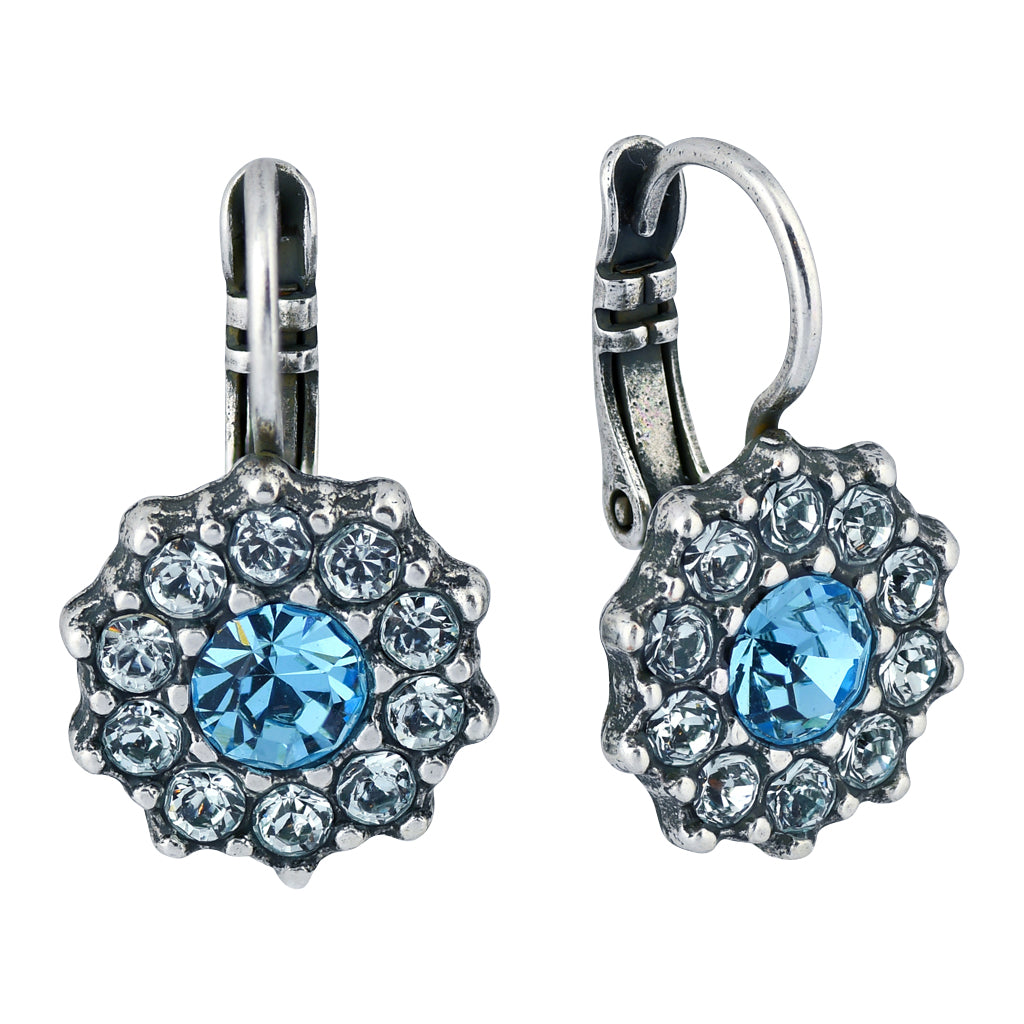 "Mariana ""Italian Ice"" Silver Plated Crystal Jewel Cluster Drop Earrings"