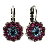 Mariana Jewelry Spring Flowers Earrings, Silver Plated with Swarovski Crystal, Nature Collection MAR-E-1157 2141 SP6