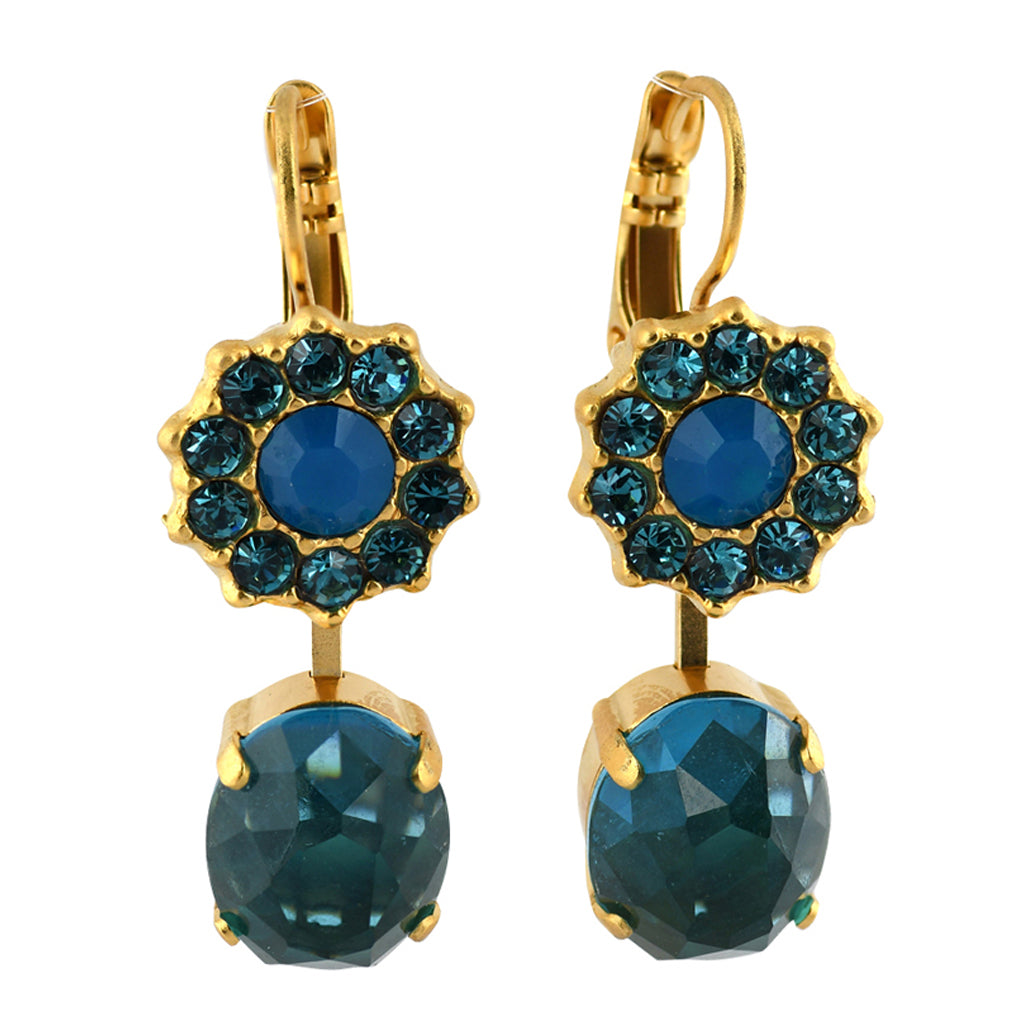Mariana Jewelry Peacock Earrings, Gold Plated with Swarovski Crystal, Nature Collection MAR-E-1157_2 M2139 YG6