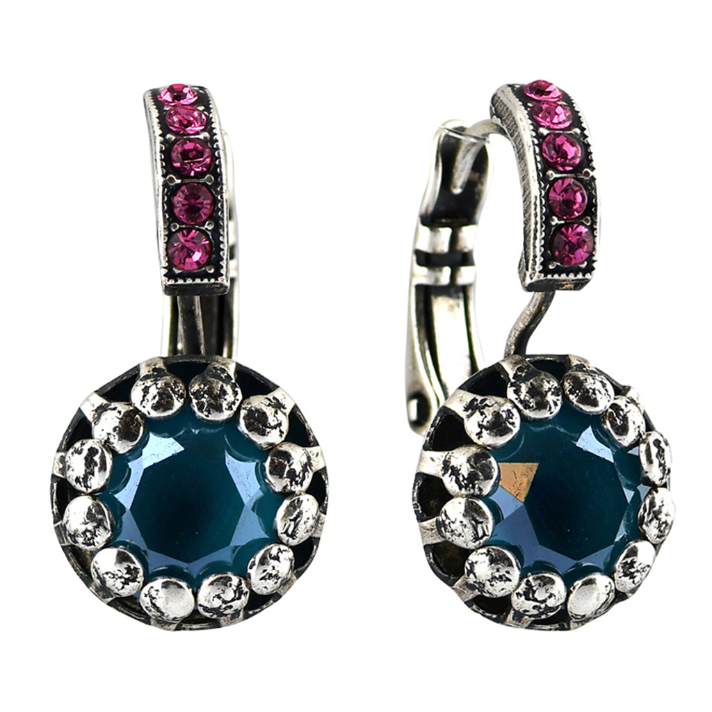 Mariana Jewelry Spring Flowers Earrings, Silver Plated with Swarovski Crystal, Nature Collection MAR-E-1160 2141 SP6